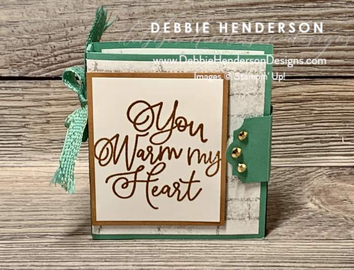 stampin up bloom where you are planted 3D mini photo album