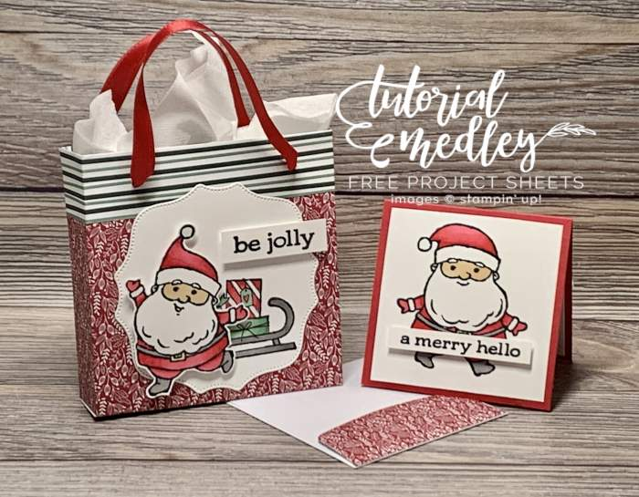stampin up be jolly tidings of christmas 3D gift bag