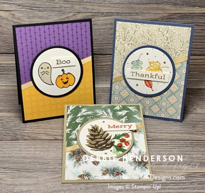 world cardmaking day designer paper and holiday card stampin up